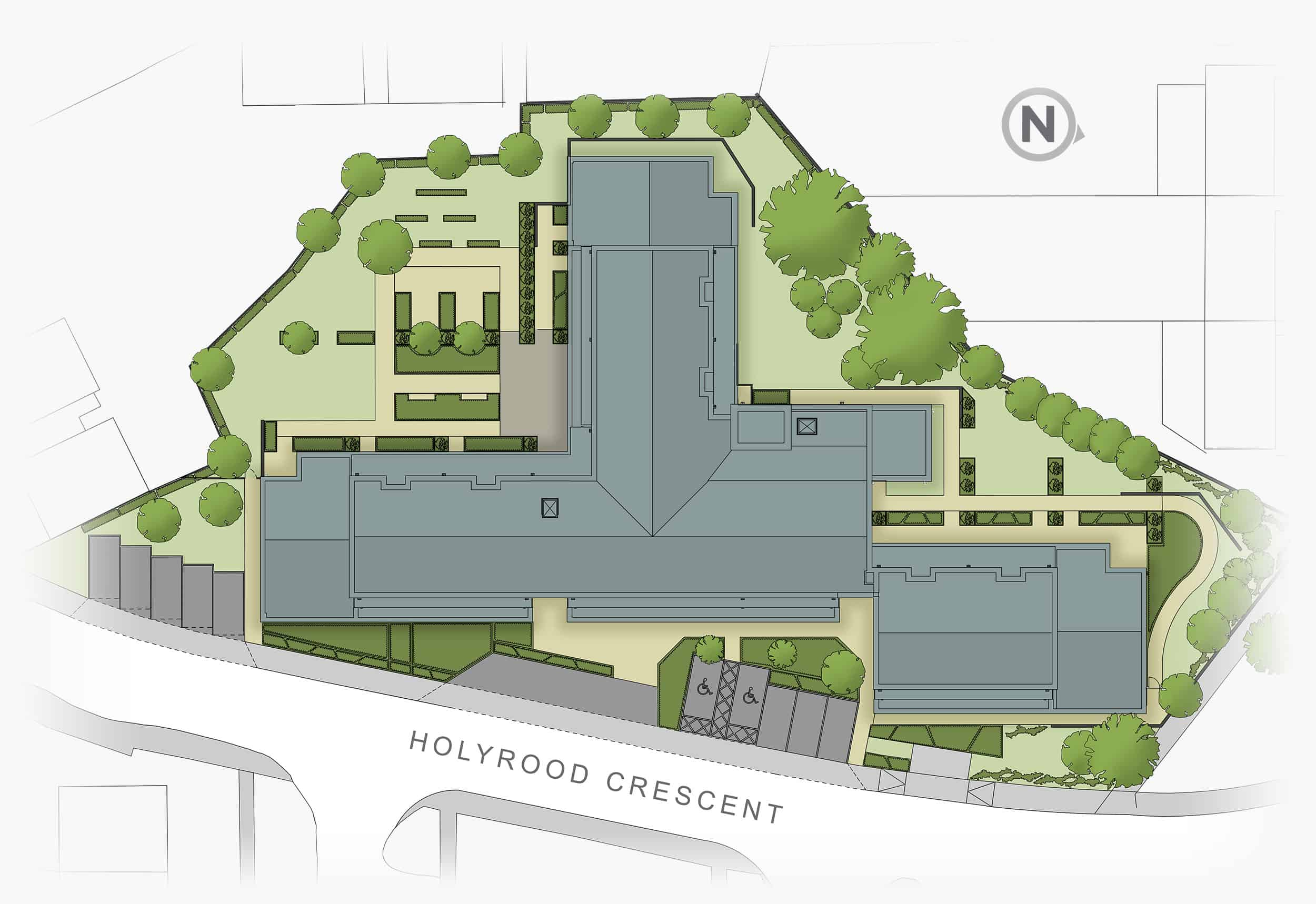 holyrood crescent site plan